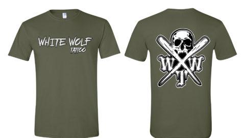 X logo military green Gildan Softstyle T-Shirt 64000