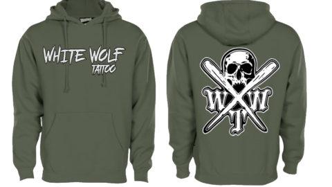 X logo olive Pennant 7o1 super 10 hoodie