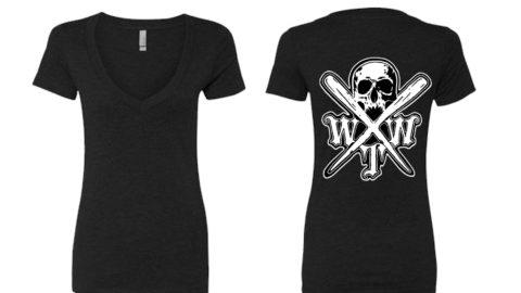 x logo black Next Level Women's CVC Deep V – 6640